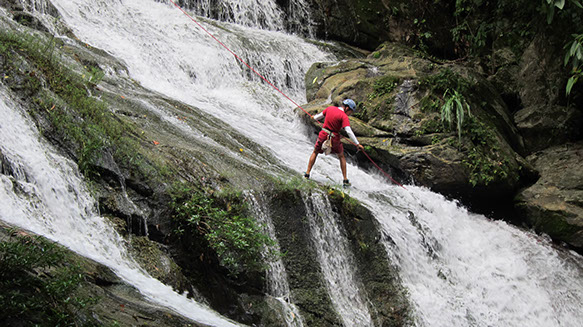 Zip Line & Waterfall Rappelling